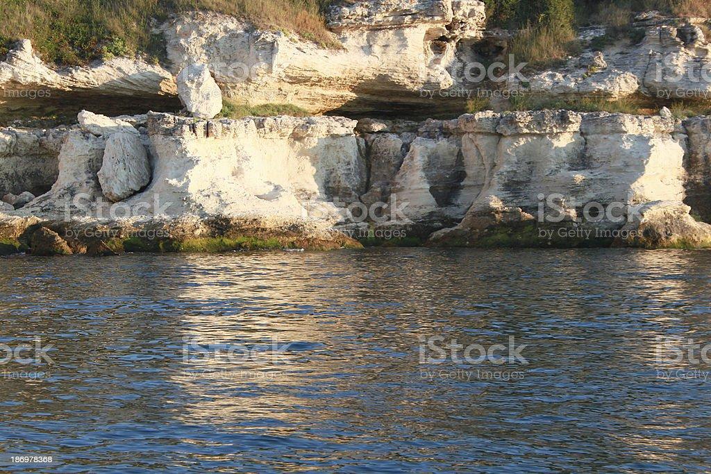 White rocks royalty-free stock photo