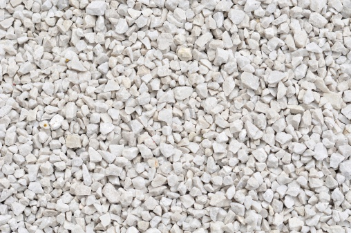 Background of small white rocks