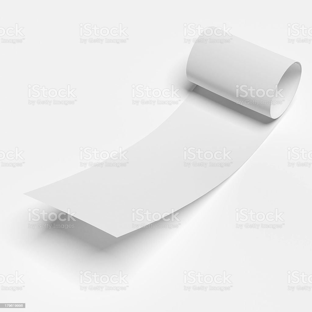White roll paper royalty-free stock photo