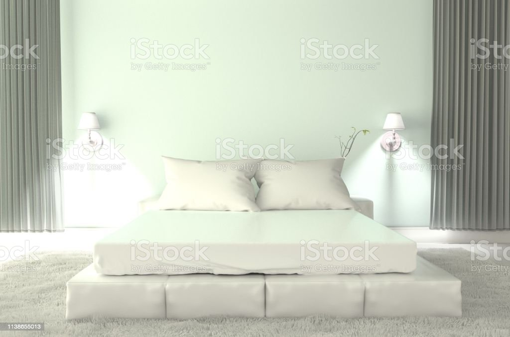 White Room interior - Room white style. 3D rendering