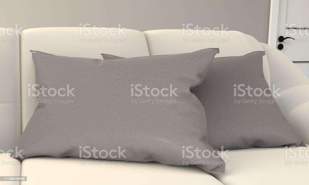 White Room Interior Scandinavian Style - Modern room with sofa lamp...