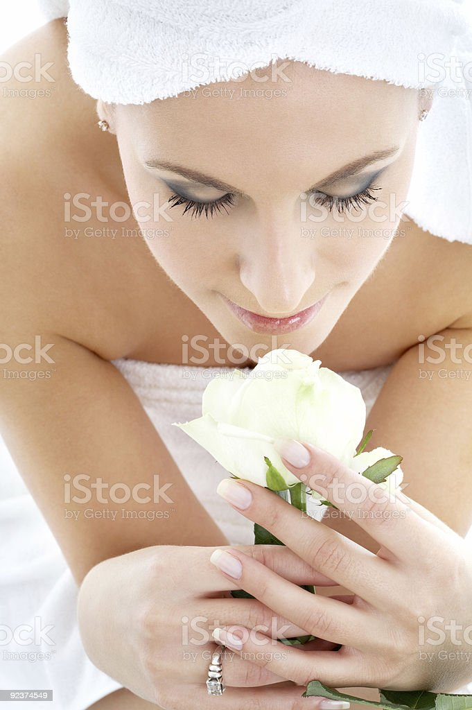 white rose spa royalty-free stock photo