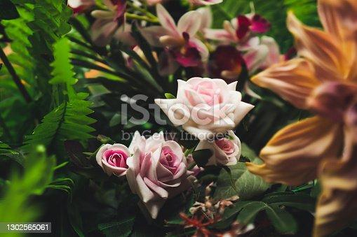White Roses at Green Garden
