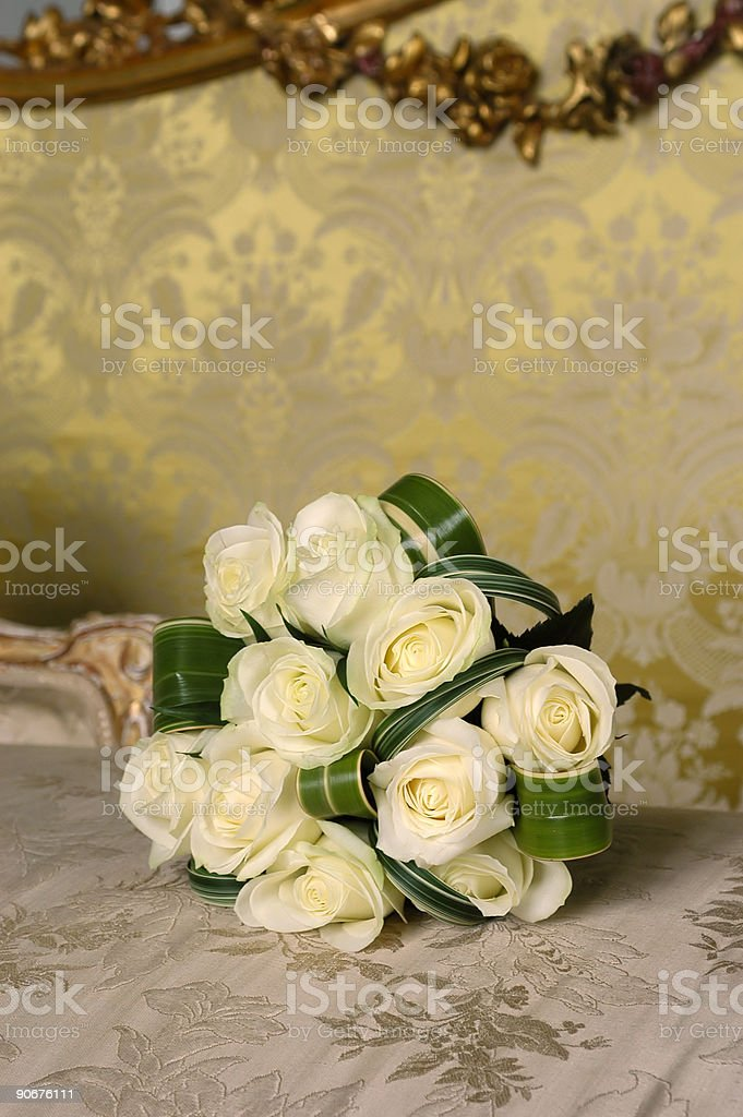 white roses bouquet royalty-free stock photo