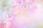 istock white roses flower border on soft glitter background for valentine or wedding card in pastel tone 870412590