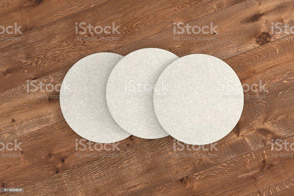 White round coasters stock photo