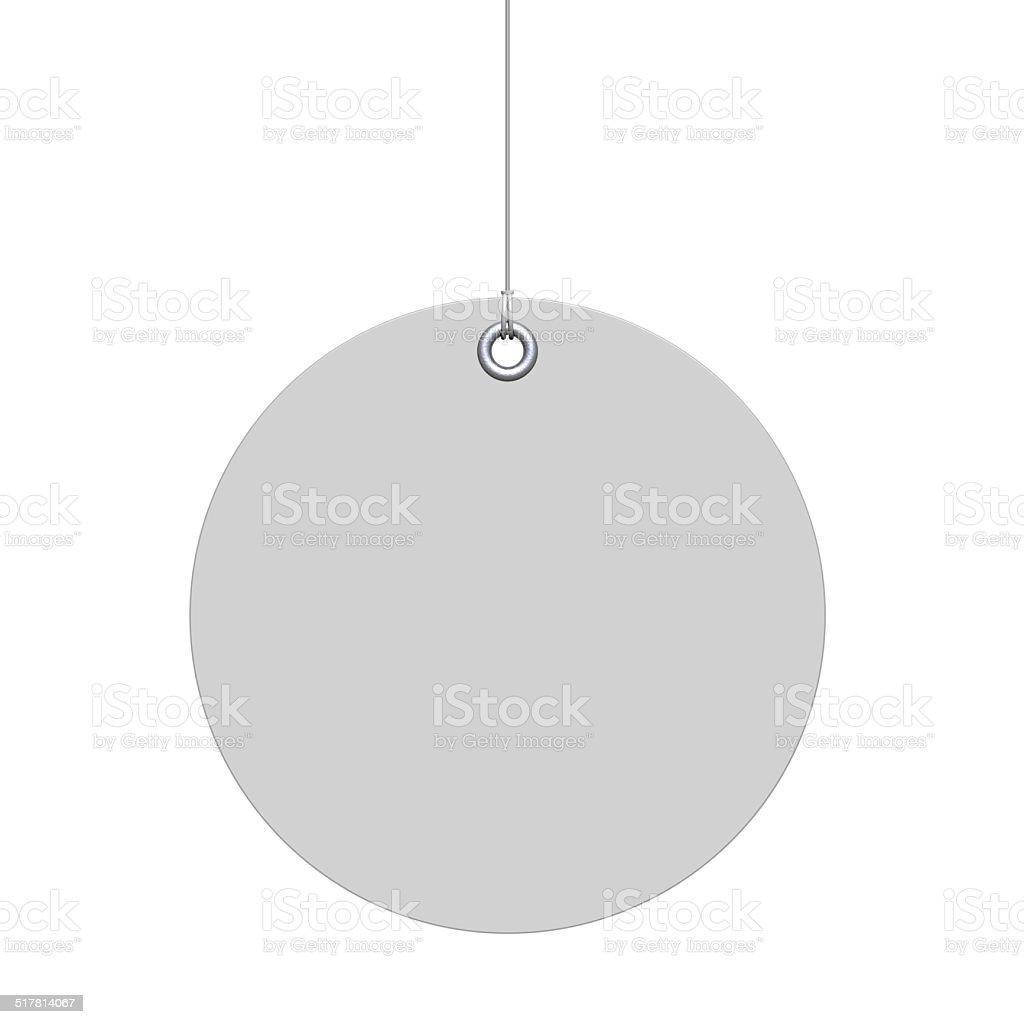 White round label stock photo