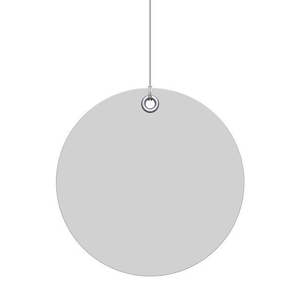 белый круглые label - вешать стоковые фото и изображения