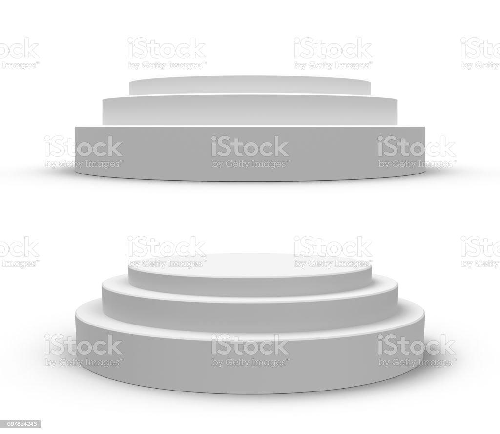 White round podium, isolated on white – zdjęcie