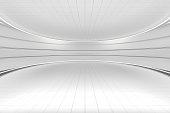 istock White round room, futuristic structure, 3d rendering. 1251440553
