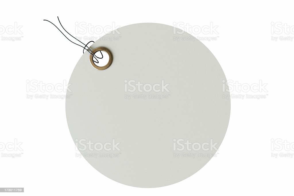 White Round Tag royalty-free stock photo