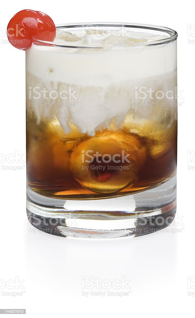 White Russian Cocktail royalty-free stock photo