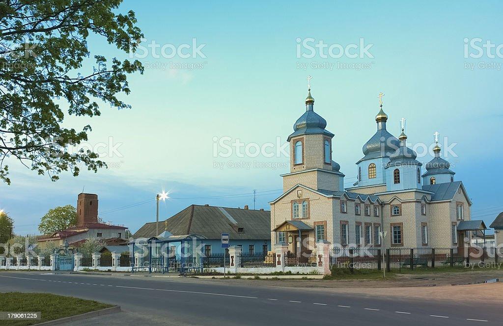 White Russian Orthodox Church royalty-free stock photo