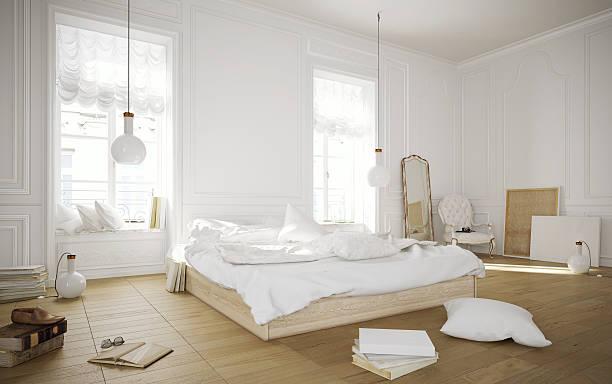 White rustikalen Schlafzimmer – Foto