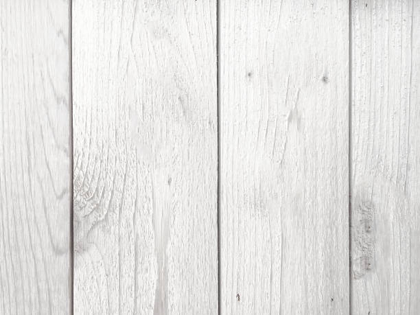 White Rustic Wood Background Texture stock photo