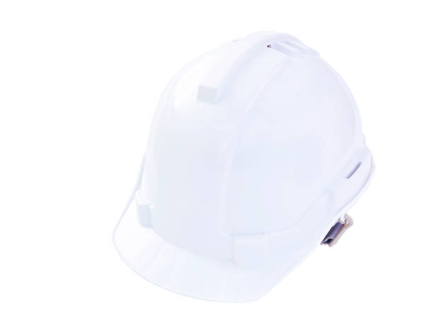 white safety cap isolate on white background, clipping part