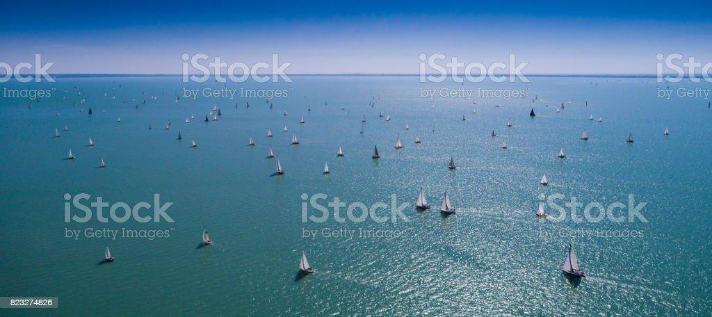 Weiße Segelboote – Foto
