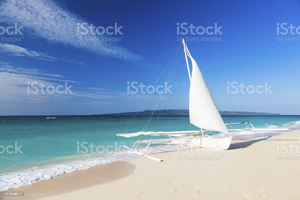 White sailboat stock photo