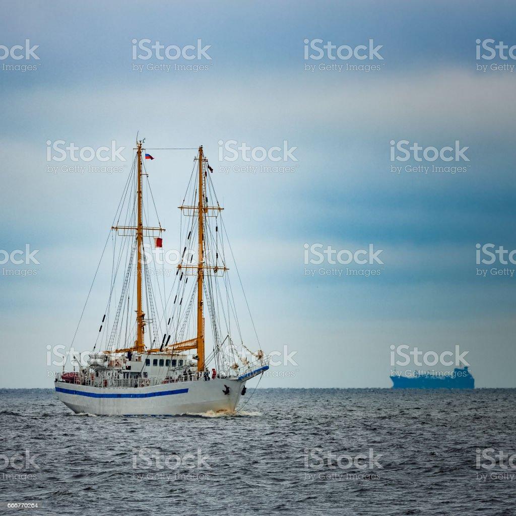 White sailing ship foto stock royalty-free