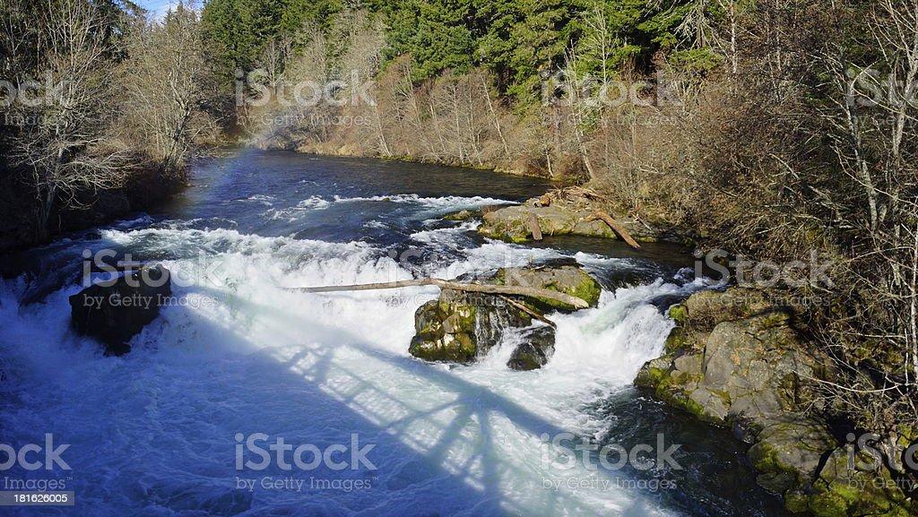 White Salmon River royalty-free stock photo