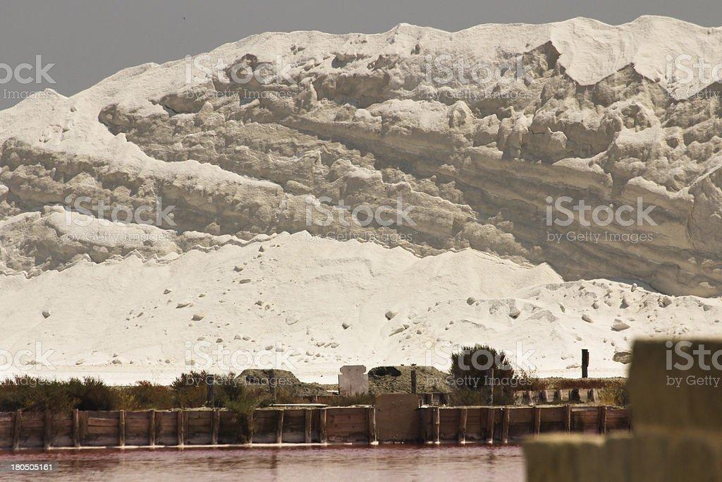 White salt mountain face royalty-free stock photo