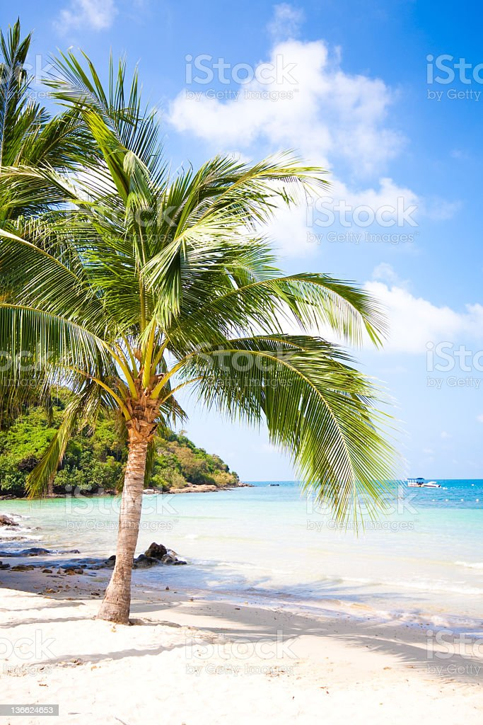 White sand beach on Koh Samet, Thailand stock photo