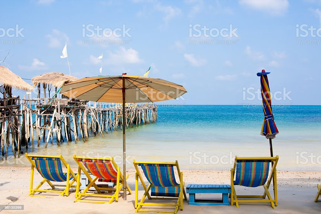 White sand beach on Koh Samet, Thailand royalty-free stock photo