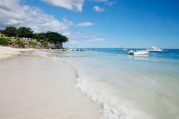 White sand beach on Panglao island, Philippines stock photo