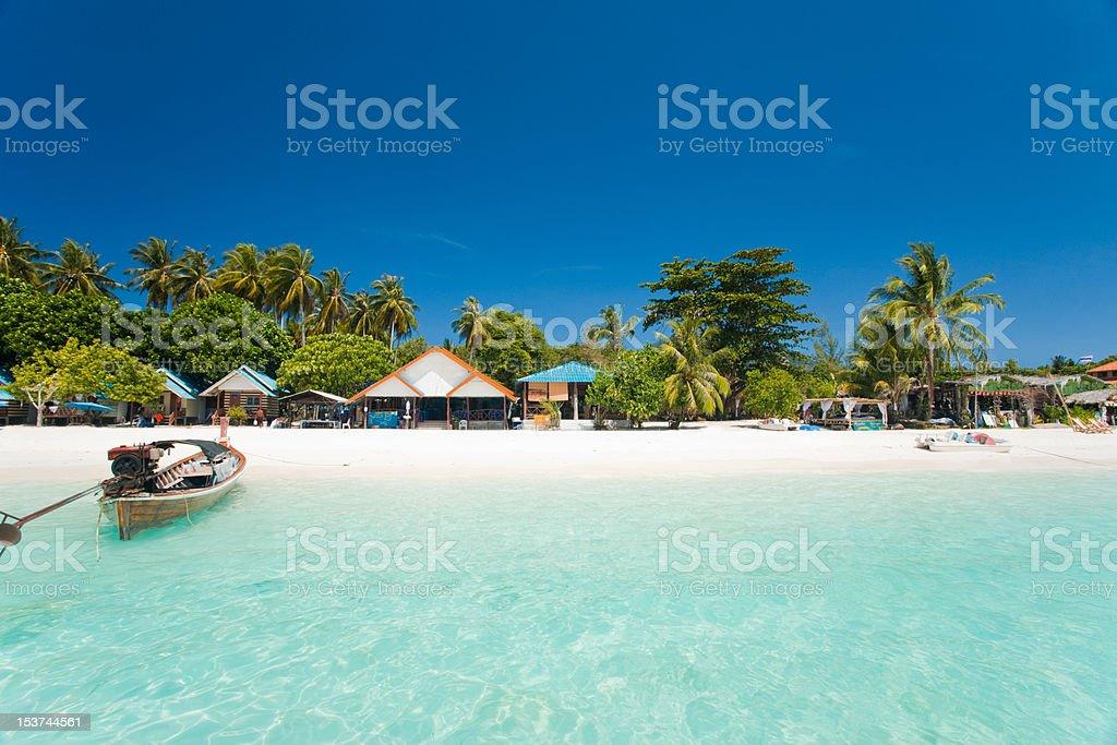White Sand Beach Paradise Koh Lipe stock photo