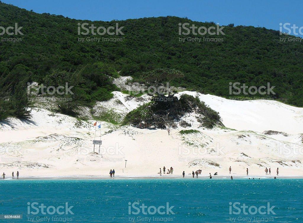 Praia de areia branca - foto de acervo