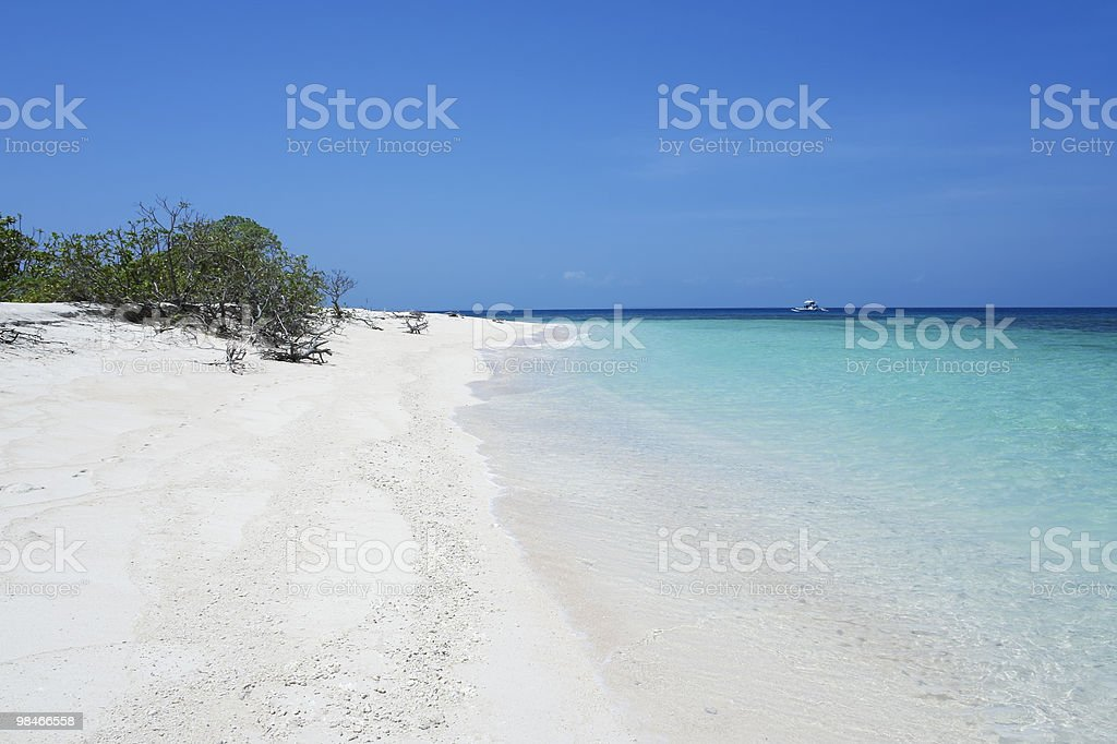 white sand blue sea tropical beach background royalty-free stock photo