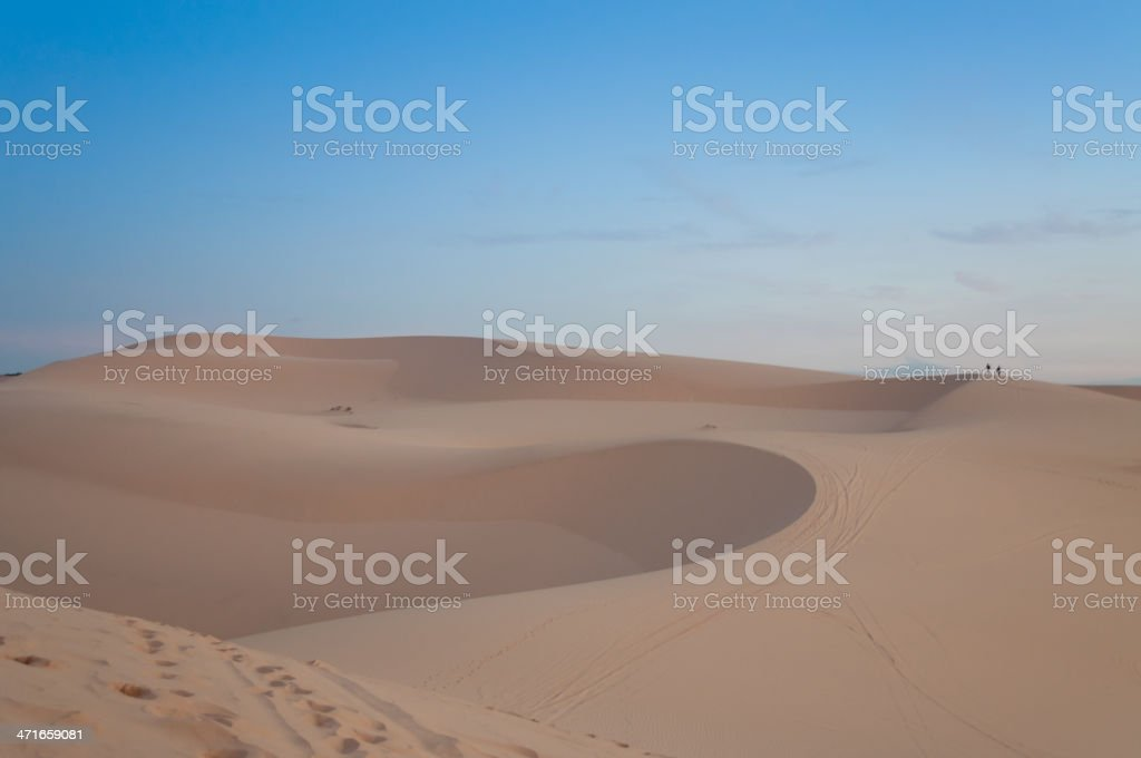 White sand dune. Mui Ne. Vietnam stock photo