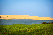 White Sand Dunes and blue lake, Mui Ne, Vietnam