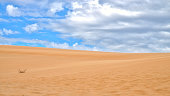 White Sand Dunes in Mui Ne, Phan Thiet, Vietnam. Popular tourist attraction