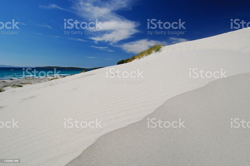 White sand dunes in Sardinia 3 royalty-free stock photo