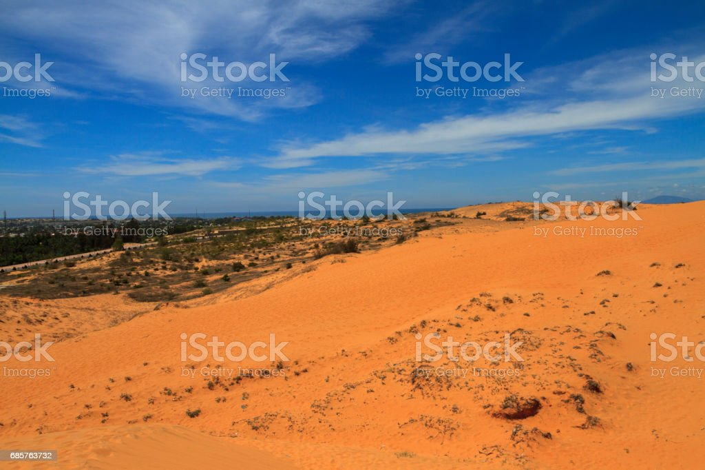 white sand dunes foto stock royalty-free