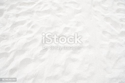 Clean white sand texture at the beach for background