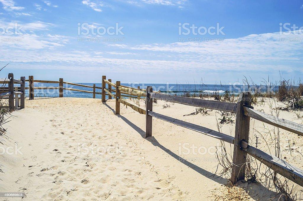 White Sand to the Beach stock photo