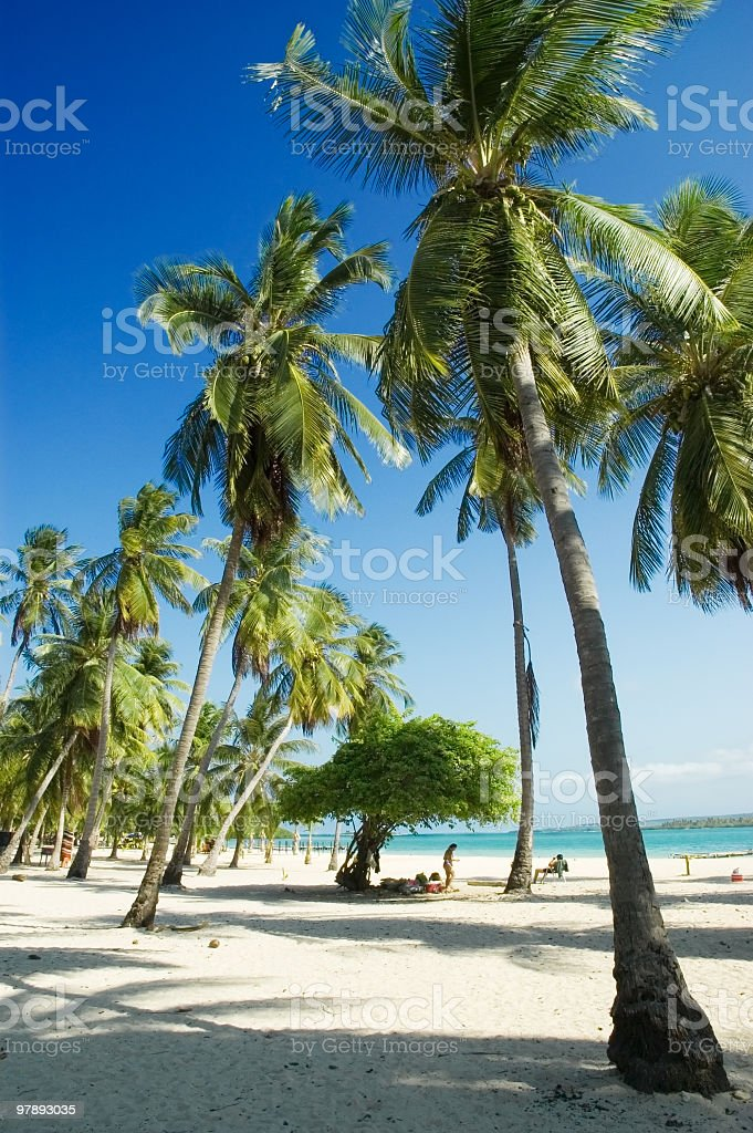 White sand tropical Island beach royalty-free stock photo
