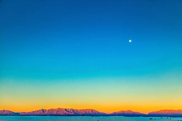 White Sands Sunrise stock photo