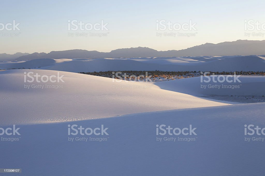 White Sands Sunset royalty-free stock photo
