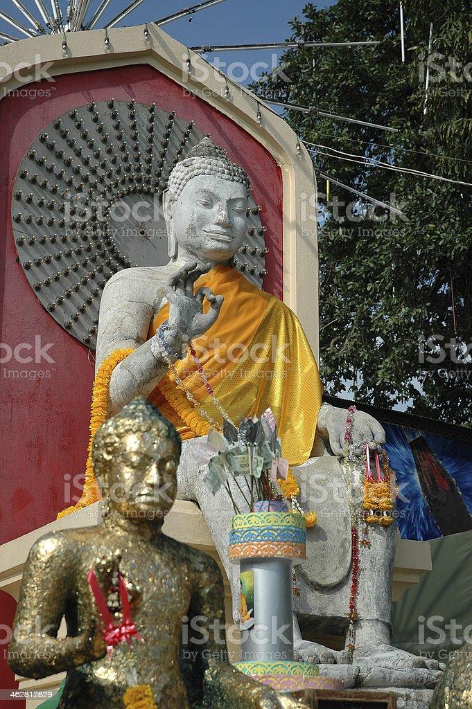White Sandstone Buddha stock photo