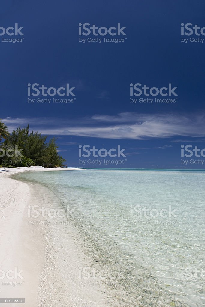 White Sandy Beach royalty-free stock photo