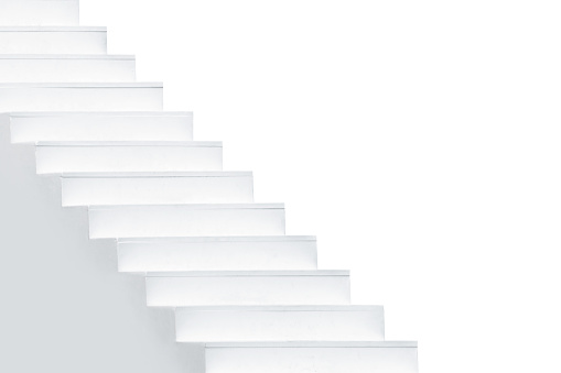 Thailand, Staircase, White Color, White Background, Cut Out
