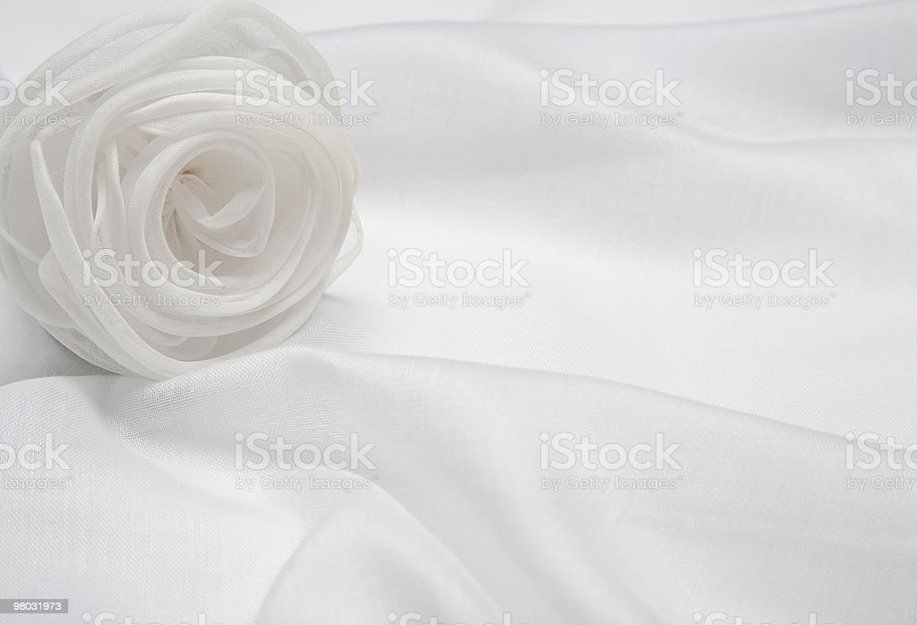 White satin rose royalty-free stock photo