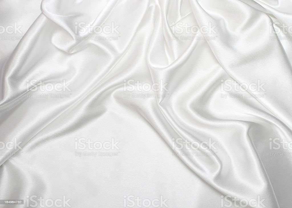 White satin silk background stock photo