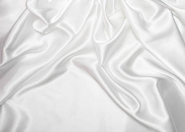 White satin Seide Hintergrund – Foto