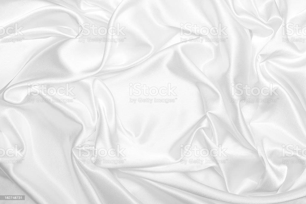 White satin silk wrinkled background stock photo