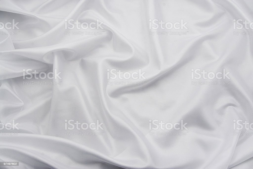 White Satin/Silk Fabric 3 royalty-free stock photo