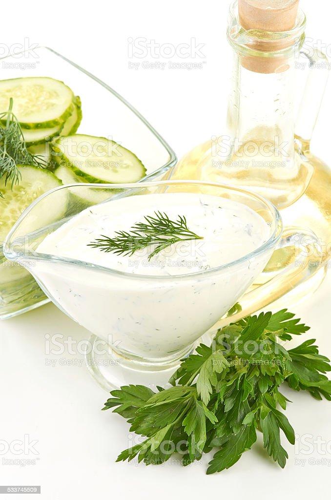 white sauce stock photo